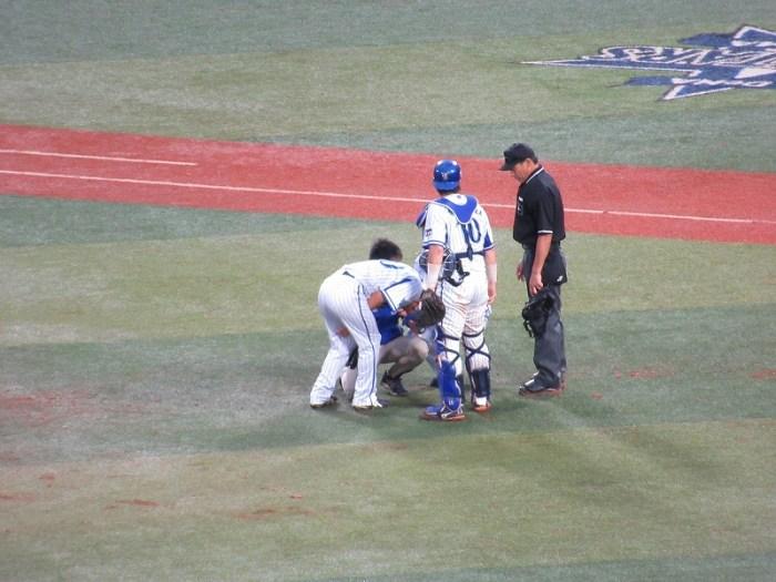 左足を痛め降板:CS絶望となった須田幸太投手:横浜DeNAベイスターズ
