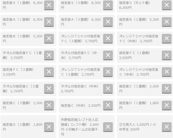 東京ドームCSチケット2016状況:完売