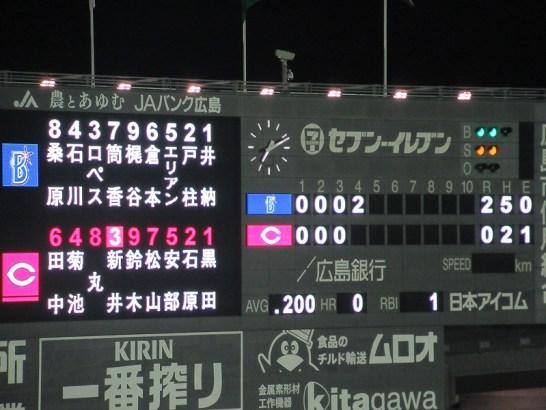 エリアン選手のホームランで22イニングにしてようやく得点!:2016CS広島戦