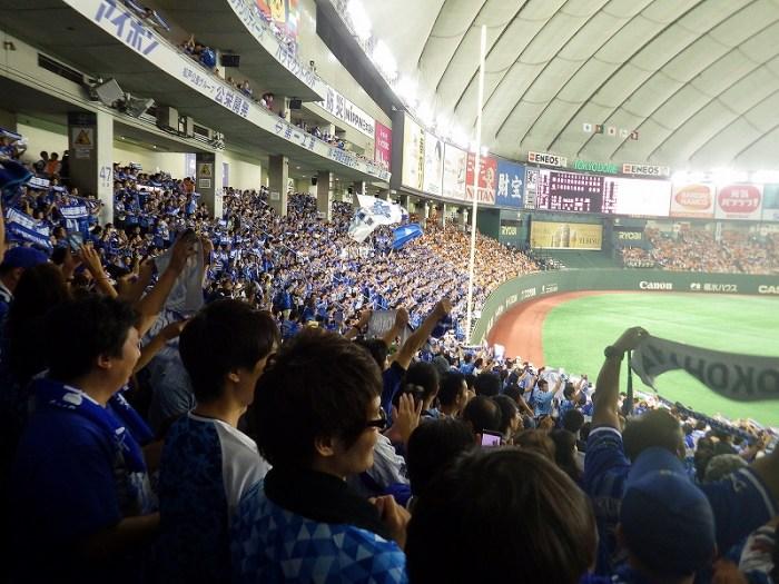 2016CS東京ドームファーストステージ:横浜DeNA側内野席の応援がヤバイ!