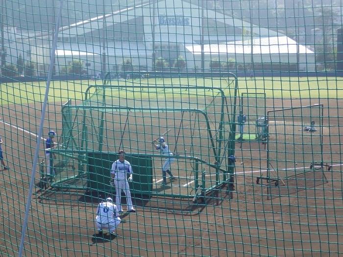 横浜DeNAベイスターズ西森選手のバッティング練:長浦総合練習場