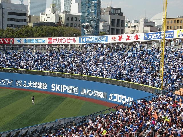 外野席はほぼ満員:2017オープン戦:横浜DeNA対千葉ロッテ