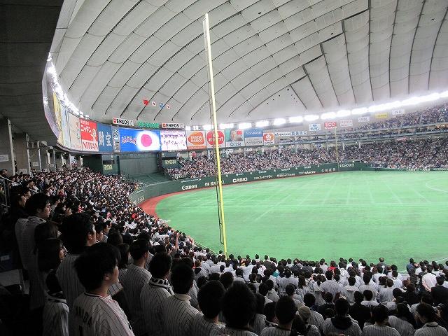 内野席Bの景色:WBC2017東京ドーム観戦記