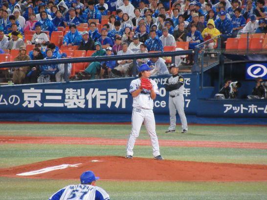 三嶋投手:1回3失点:横浜DeNAベイスターズ