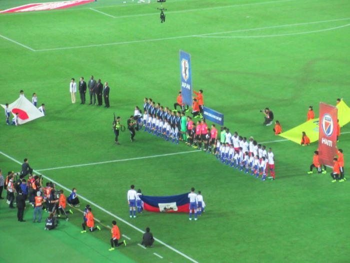 キリンカップ日本対ハイチ!試合開始前