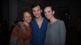 Briana Dickinson and dancers James Gowan and Maddie DeVries
