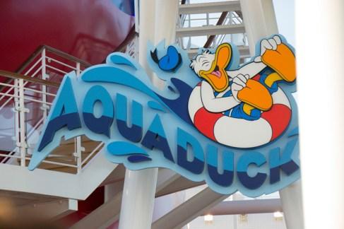 The Aquaduck sign