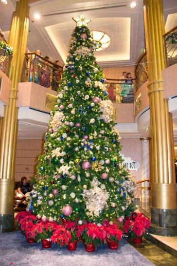 Disney Fantasy lobby Christmas tree