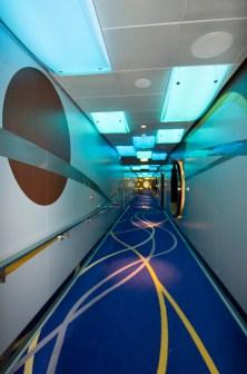 Disney Fantasy hallway