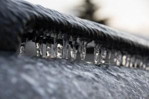 Frozen car bike rack