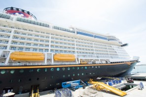 Disney Fantasy docked at Port Canaveral