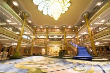 Disney Fantasy atrium/lobby