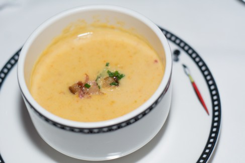 Baked Potato and Cheddar Cheese Soup