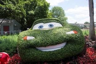 Lightning McQueen topiary