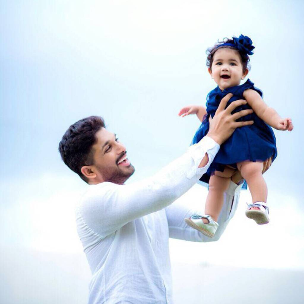 Cute Stylish Child Girl Wallpaper These Adorable Photos Of Allu Arjun And His Daughter Allu
