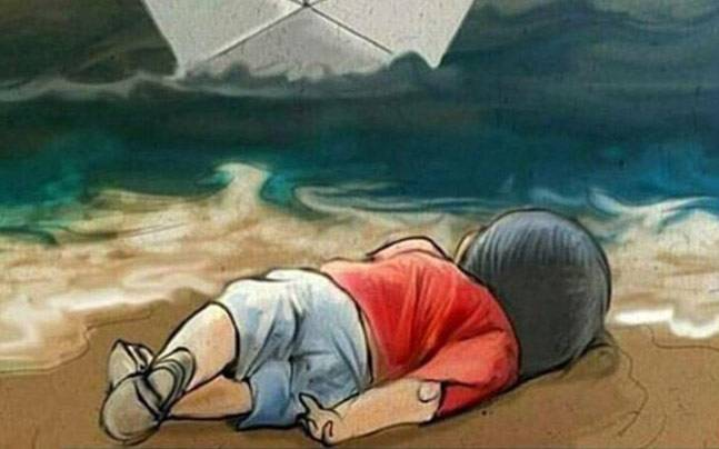 After Aylan Kurdi another drowned child washes ashore in