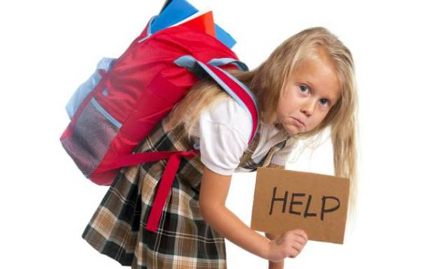 Image result for Heavy school bags damaging children spines-new study