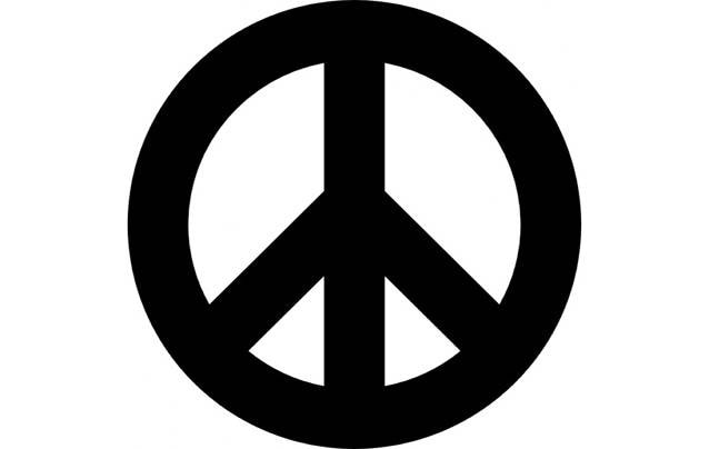 the peace symbol actually