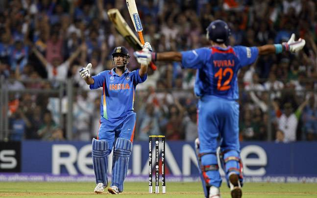 MS Dhoni's World Cup-winning six triggers crazy celebrations ...
