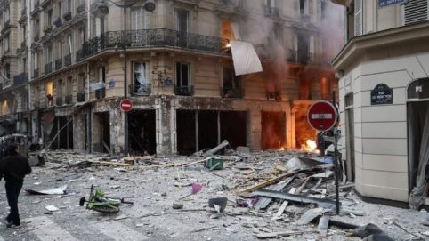 Image result for explosion in Paris