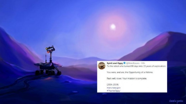 Lost in space NASA bids adieu to Opportunity the rover