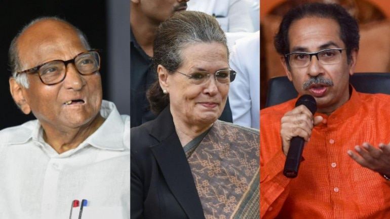 Image result for shiv sena ncp and congress alliance