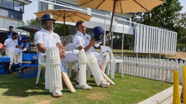 Prithvi Shaw and Mayank Agarwal gave India a solid start Day 2 of the practice Test match vs New Zealand (<b> Courtesy by BCCI</b>)