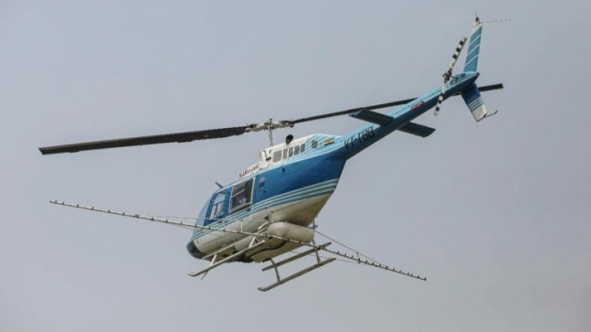Union Agriculture Minister Narendra Singh Tomar flags off 'Bell Helicopter' to tackle locusts