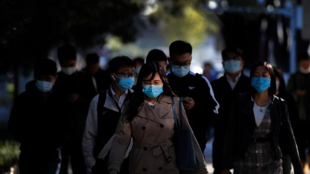 [REPRESENTATIVE IMAGE] File photo of locals wearing face-masks in Beijing