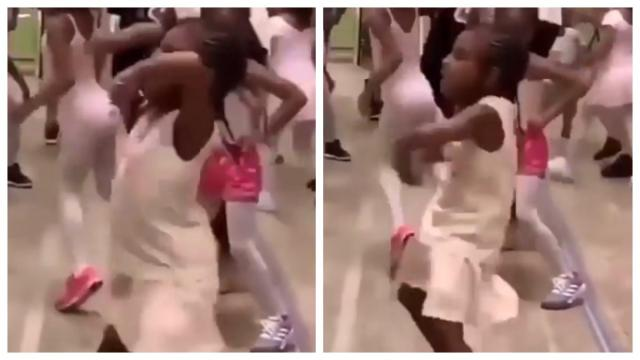 Beyonce's daughter Blue Ivy dances in full spirit. (Photos: Tina Knowles/Instagram)