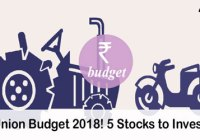 Top 5 Stocks to Invest Before India's Union Budget 2018