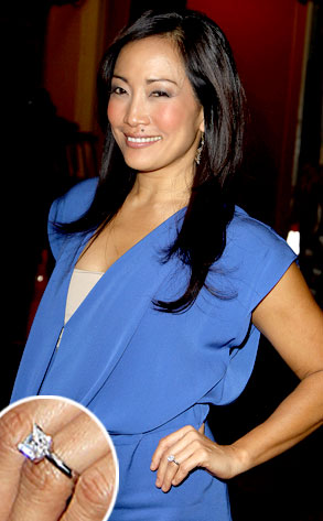 Carrie Ann Inaba from Stars Engagement Rings  E News