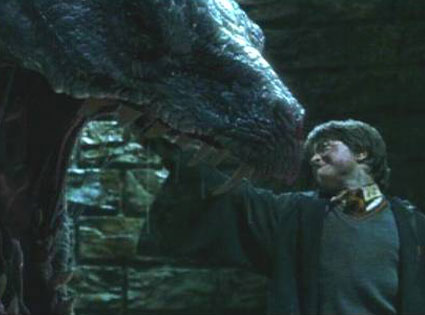 Battle with a Basilisk from The Best Harry Potter Movie Moments Ever  E News