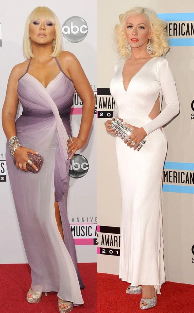 Christina Aguilera Weight And After