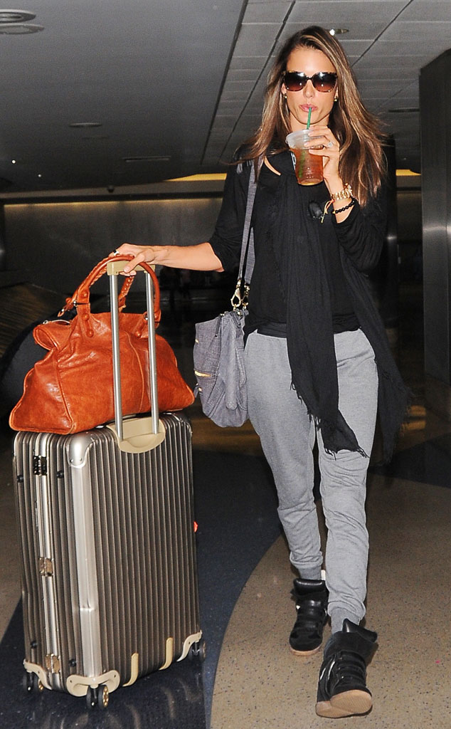 Alessandra Ambrosio from Celeb Airport Style  E News