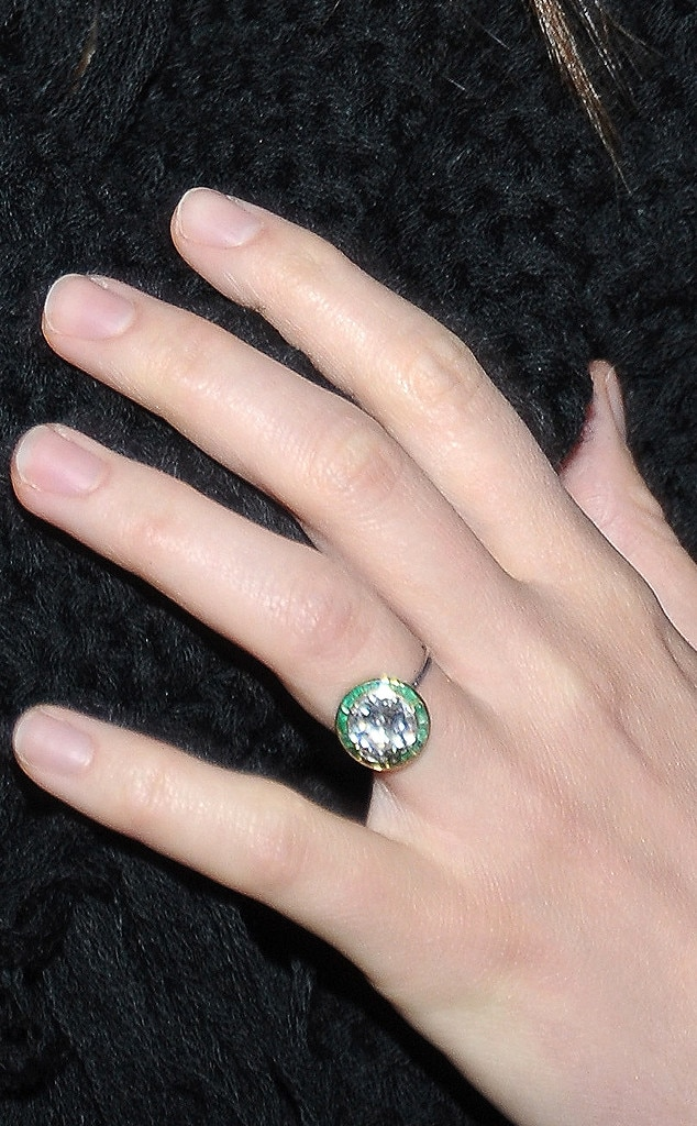 Going Green From Guess The Celebrity Engagement Ring E News