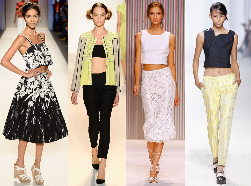 Crop Tops from Spring 2014 Trends From New York Fashion