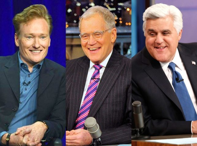Image result for jay leno david letterman