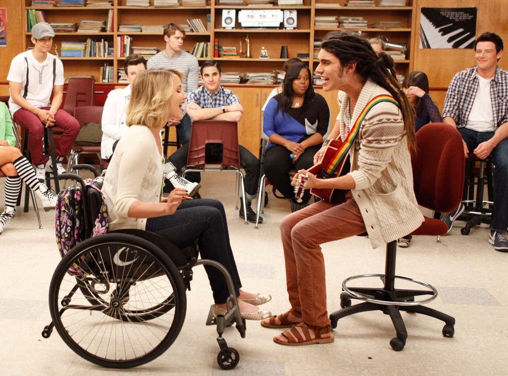 wheelchair glee wheel chair batteries samuel larsen from naya rivera and all the casting shake ups