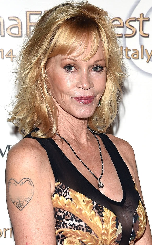 Melanie Griffith Covers Up Antonio Banderas Tattoo And