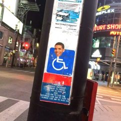 Wheelchair Drake Cotton Director Chair Covers Putting S Face On Signs Is A Trend In Toronto