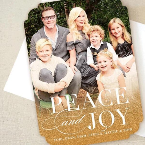 Tori Spelling From Celebrity Christmas Cards E News