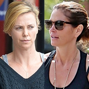 charlize theron steps in los