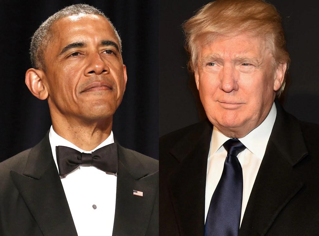 Image result for donald trump and barack obama