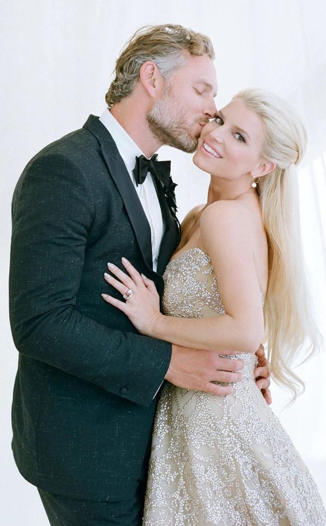 Jessica Simpson  Eric Johnson from Best Celebrity Wedding Photos  E News