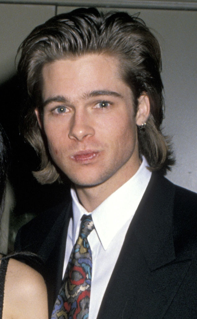 Brad Pitt From Celebs With Mullets E News