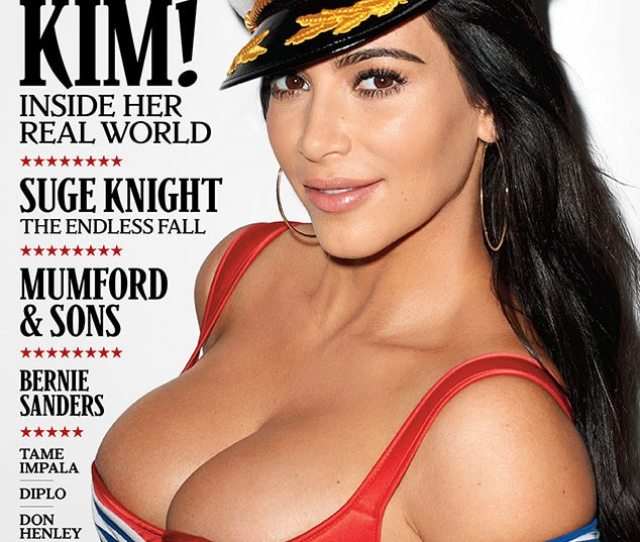 Kim Kardashians Boobs Take Center Stage On Rolling Stone Cover Star Talks Sex Tape Robs Weight Gain And Caitlyn Jenner