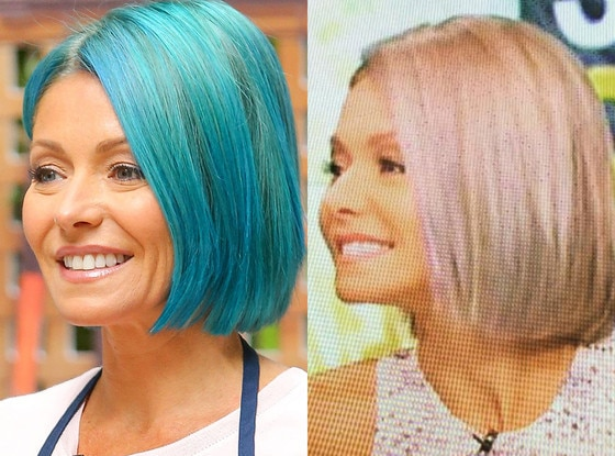 Kelly Ripa Ditches Blue Hair For Opal Locks After Just 1
