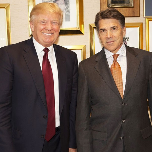 Image result for rick perry and trump
