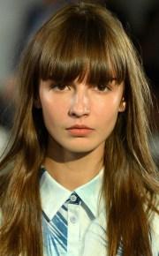 school girl bangs hair trends